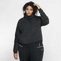 Nike Plus Size - Therma Women's Fleece Long-Sleeve Training Top - Black