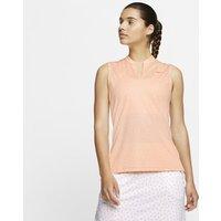 Nike Dri-FIT Victory Women's Sleeveless Printed Golf Polo - Orange