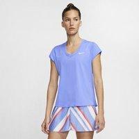 Женская теннисная футболка с коротким рукавом NikeCourt Dri-FIT фото