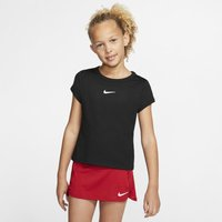 NikeCourt Dri-FIT Girls' Tennis Top - Black