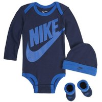Nike Baby Bodysuit, Hat and Booties Set - Blue