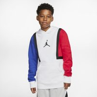 Jordan Jumpman Older Kids' (Boys') Colour-Blocked Hoodie - White