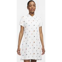 The Nike Polo Women's Printed Dress - White