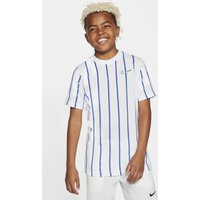 NikeCourt Dri-FIT Older Kids' (Boys') Tennis T-Shirt - White