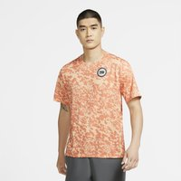 Nike Dri-FIT Miler Wild Run Men's Printed Running Top - Orange