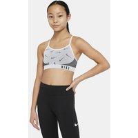Nike Indy Older Kids' (Girls') Sports Bra - White