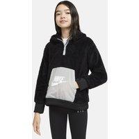 Nike Air Sudadera con capucha de tejido Sherpa - Niña - Negro