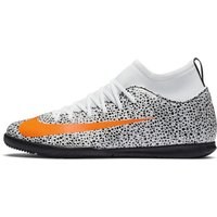 Nike Jr. Mercurial Superfly 7 Club CR7 Safari IC Younger/Older Kids' Indoor Court Football Shoe - Wh