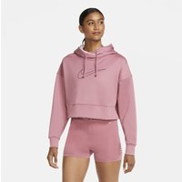Nike Therma Women's Cropped Pullover Training Hoodie - Pink