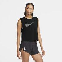 Nike Run Division Women's Pleated Running Tank - Black