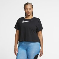 Nike Plus Size - Swoosh Run Women's Short-Sleeve Running Top - Black