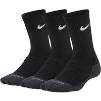 Nike Dri-FIT Cushioned Younger Kids' Crew Socks (3 Pairs) - Black