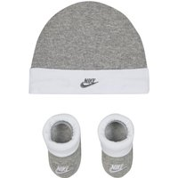 Nike Sportswear Baby Hat and Booties Set - Grey