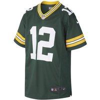 NFL Green Bay Packers Game Jersey (Aaron Rodgers) American-Football-Trikot für ältere Kinder - Grün