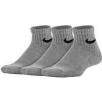 Nike Performance Cushioned Quarter Kids' Training Socks (3 Pair) - Grey