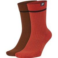 Nike SNKR Sox Essential Crew Socks (2 Pairs) - Orange
