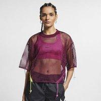 Женская футболка из сетчатой ткани с коротким
