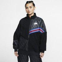 Женская куртка из материала Sherpa с молнией