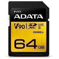 ADATA Premier One 64GB SDXC UHS-II U3 Class 10 SD Card