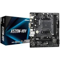 ASRock A520M-HDV AMD A520 Chipset (Socket AM4) Micro-ATX Motherboard