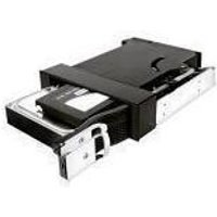 """Icy Box Black Internal Trayless Module for 1 x 2.5"""" and 1 x 3.5"""" SATA HDDs in 5.25"""" bay"""
