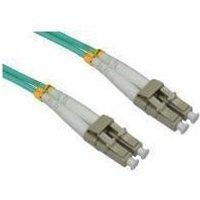 1M OM3 Fibre Optic Cable, LC-LC Aqua