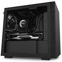 NZXT H210 Compact Mini-ITX Chassis - Tempered Glass Black