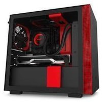 NZXT H210 Compact Mini-ITX Chassis - Tempered Glass Black/Red