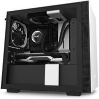 NZXT H210 Compact Mini-ITX Chassis - Tempered Glass White