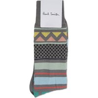 Paul Smith Grey Striped Comfortable Socks