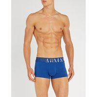Mega logo-print slim-fit stretch-cotton trunks