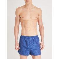 Regular-fit leaf-print cotton boxers