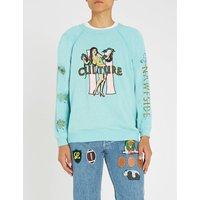 Hula cotton-blend sweatshirt