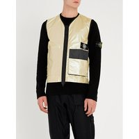 Iridescent padded shell gilet