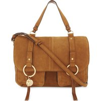 See By Chloe Ladies Caramel Embossed Bohemian Leather And Suede Shoulder Bag