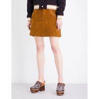 Pocket corduroy mini skirt