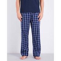 Naturally checked woven-cotton pyjama bottoms