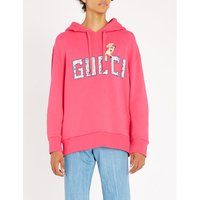 Piglet-embroidered cotton-jersey hoody