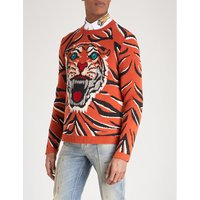 Tiger knitted wool jumper