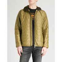 Barbour Mens Pea Greeen Hooded Shell Jacket, Size: L