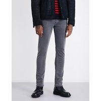 Paige Denim Mens Grey Vintage Wash Concealed zip Lennox Slim-Fit Tapered Jeans, Size: 30