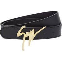 Giuseppe Zanotti Mens Black Traditional Signature Leather Belt, Size: 36