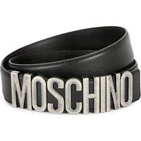Leather logo belt
