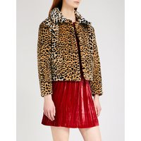 Alexachung Ladies Brown Leopard Print Leopard-Print Faux-Fur Jacket