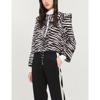 Faulkner zebra-print quilted cotton jacket