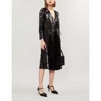 Ganni Black Sonora Sequinned Dress