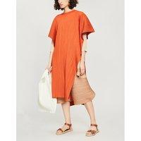 Moncol woven kaftan dress