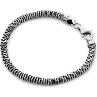 SEVEN JEWELLERY | Seven Jewellery Silver disc bracelet, Mens | Goxip