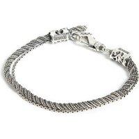 Braided double bracelet