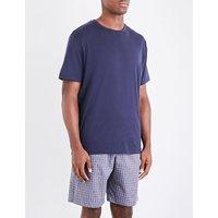 Geometric-print cotton shorts